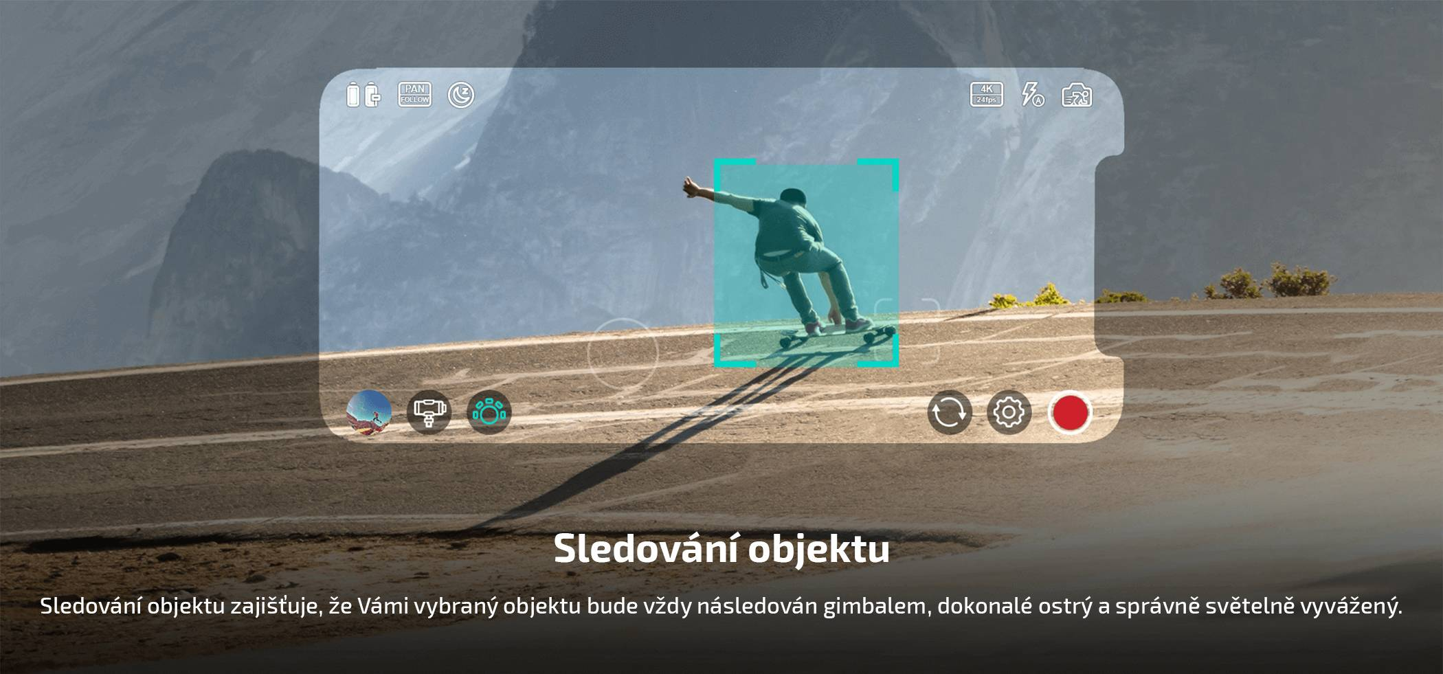 film-technika-gudsen-moza-mini-s-gimbal-pro-smartphony-sledování-objektu